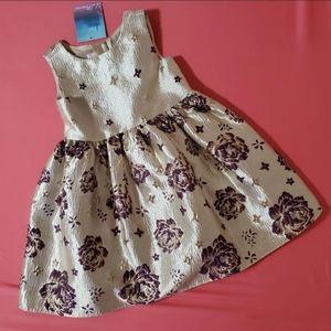 BNWT! Metallic Sheen Floral Dress